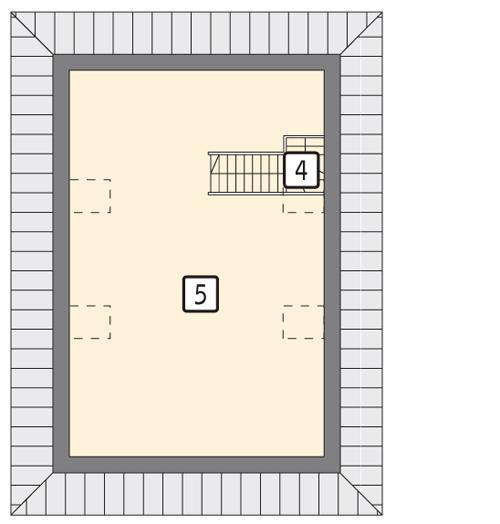 Rzut poddasza POW. 55,0 m²