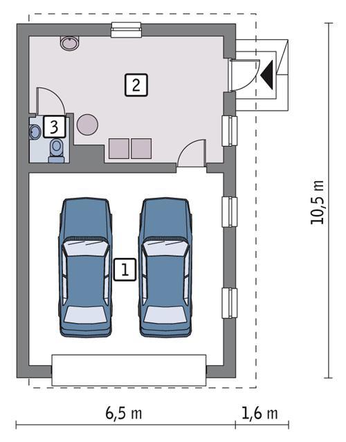 Rzut parteru POW. 53,1 m²