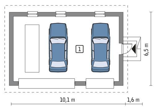 Rzut parteru POW. 53,5 m²