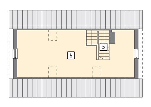 Rzut poddasza POW. 68,9 m²