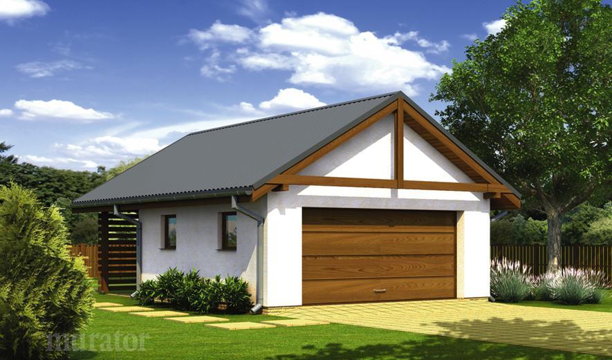Projekt Garażu G57c Garaż Z Pomieszczeniem Gospodarczym Murator