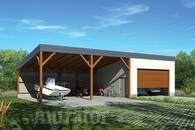 G61 Garaż z wiatą garażową