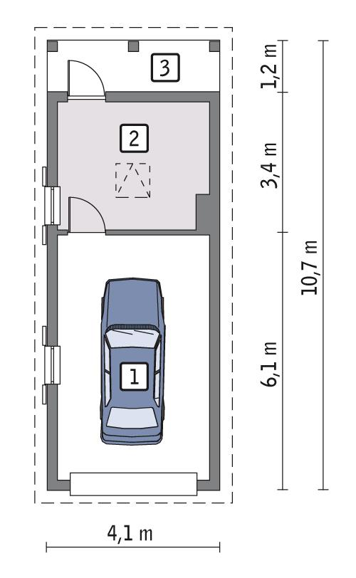 Rzut parteru POW. 31,0 m²