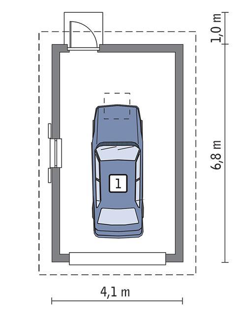 Rzut parteru POW. 22,4 m²