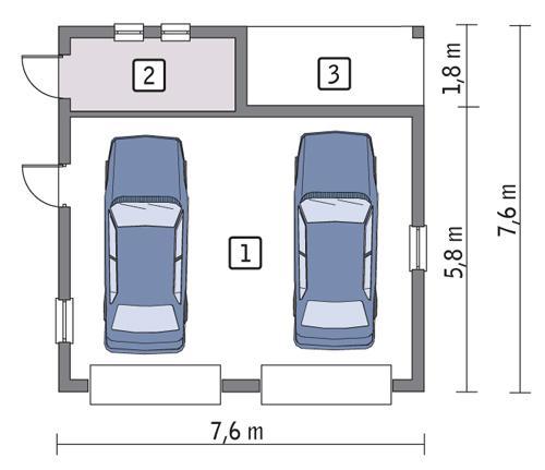 Rzut parteru POW. 44,6 m²