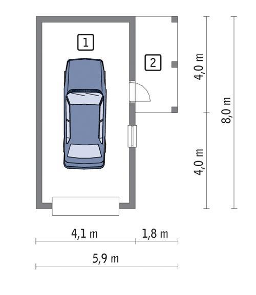 Rzut parteru POW. 26,5 m²