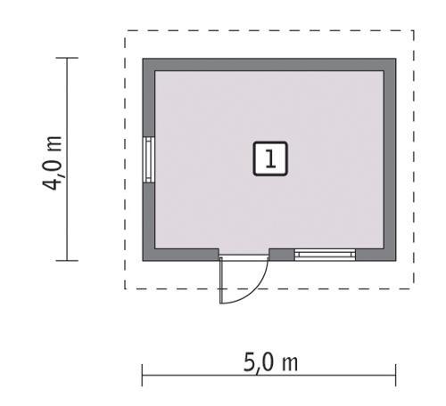 Rzut parteru lustro POW. 15,7 m²