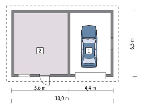 Rzut parteru POW. 55,3 m²