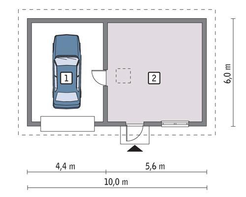 Rzut parteru POW. 50,6 m²