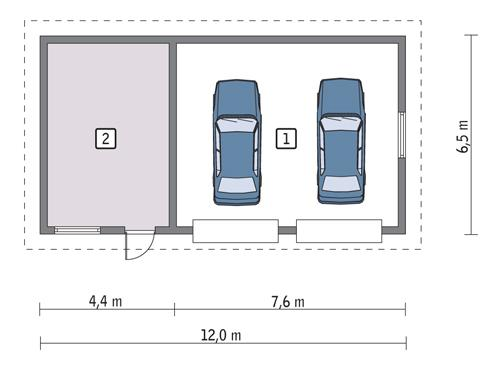 Rzut parteru POW. 67,2 m²