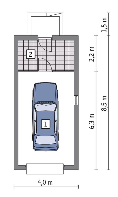 Rzut parteru POW. 25,9 m²