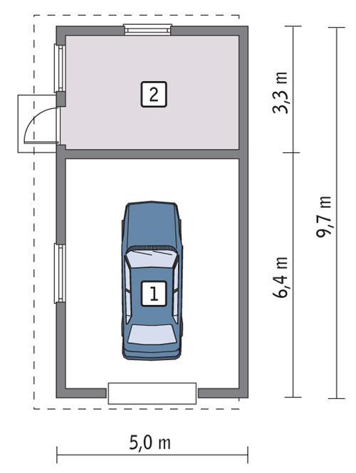 Rzut parteru POW. 40,0 m²