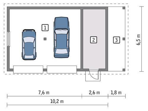 Rzut parteru POW. 56,4 m²