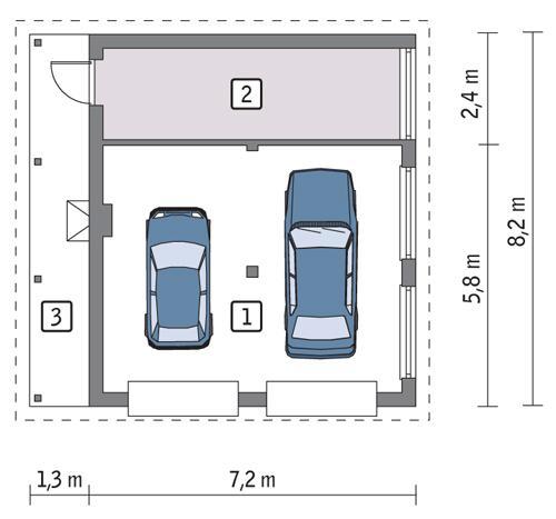 Rzut parteru POW. 47,5 m²