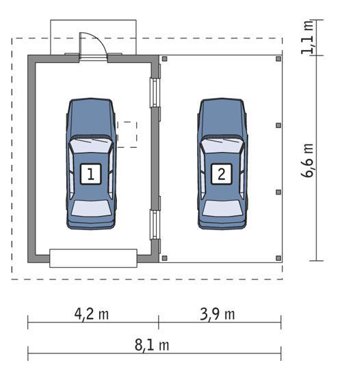 Rzut parteru POW. 22,2 m²