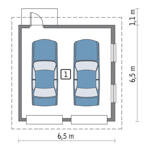Rzut parteru POW. 35,6 m²