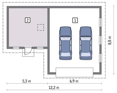 Rzut parteru POW. 78,2 m²