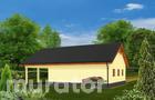 GC37a Garaż z pomieszczeniem gospodarczym, schowkiem i wiatą garażową
