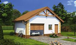 Garaż z pomieszczeniem gospodarczym i schowkiem