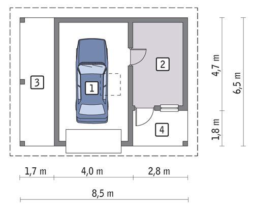 Rzut parteru POW. 31,3 m²