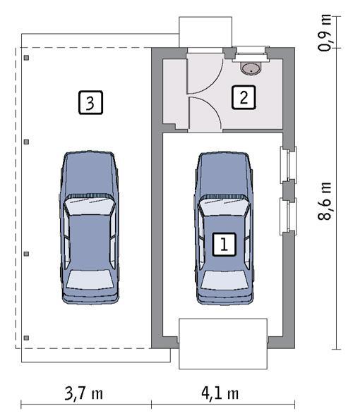 Rzut parteru POW. 26,4 m²