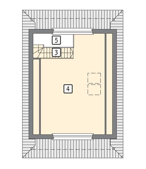 Rzut poddasza POW. 37,7 m²