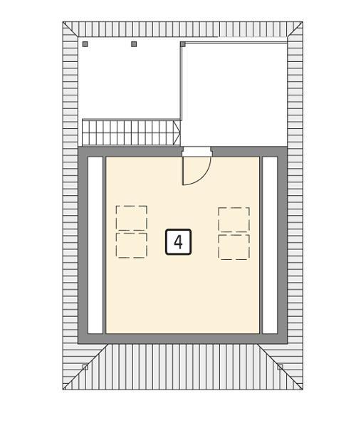 Rzut poddasza POW. 29,3 m²