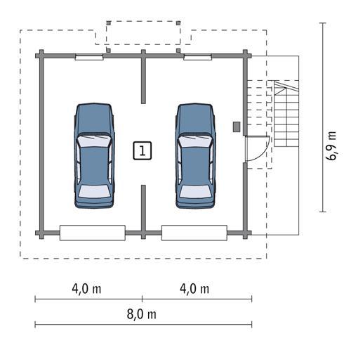 Projekt Garażu Gc54s Garaż Z Częścią Rekreacyjną Murator Projekty