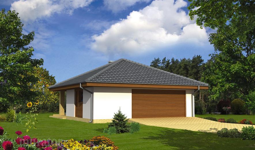 GC56 Garaż z pomieszczeniem gospodarczym i wiatą rekreacyjną