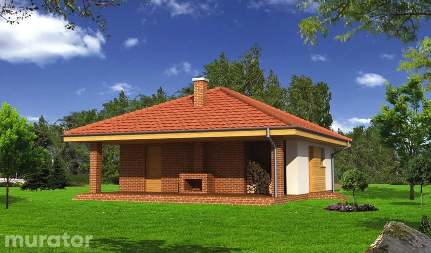 GC57 Garaż z pomieszczeniem gospodarczym i wiatą rekreacyjną