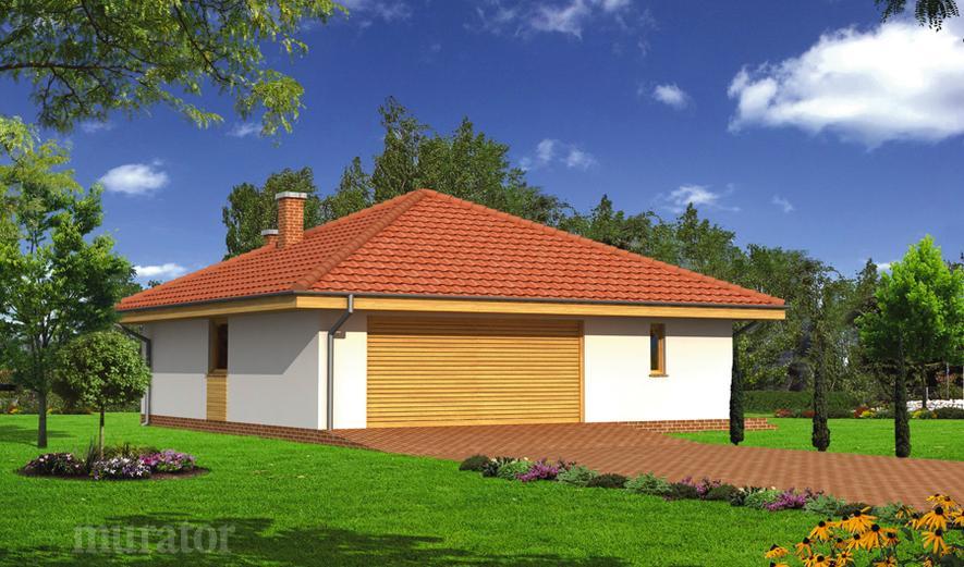 GC58a Garaż z pomieszczeniem gospodarczym, sauną  i wiatą rekreacyjną