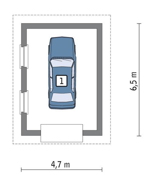 Rzut parteru POW. 23,2 m²