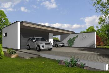 Garaże nowoczesne lub z płaskim dachem