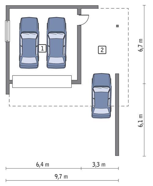 Rzut parteru POW. 35,1 m²