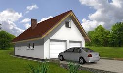 Garaż z poddaszem i pomieszczeniem gospodarczym