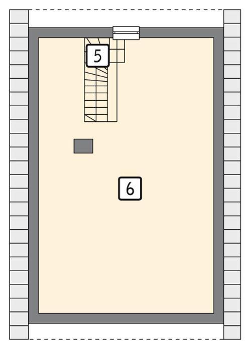 Rzut poddasza POW. 62,0 m²