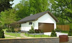 Garaż z kotłownią i wiatą rekreacyjną
