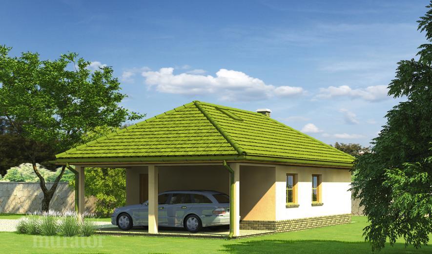 GC78 Garaż z wiatą garażową i wiatą rekreacyjną