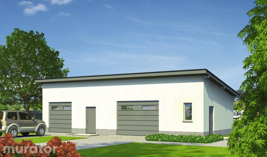 GC80 Garaż z pomieszczeniem gospodarczym GC80