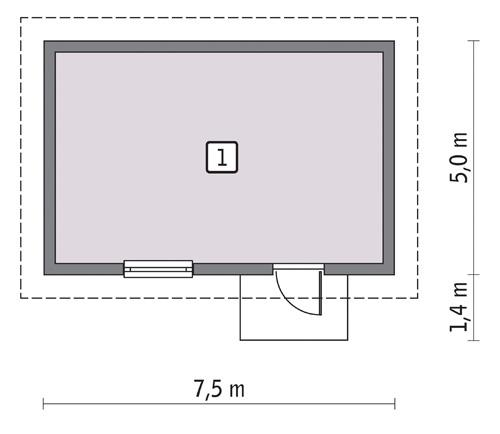Rzut parteru POW. 31,7 m²