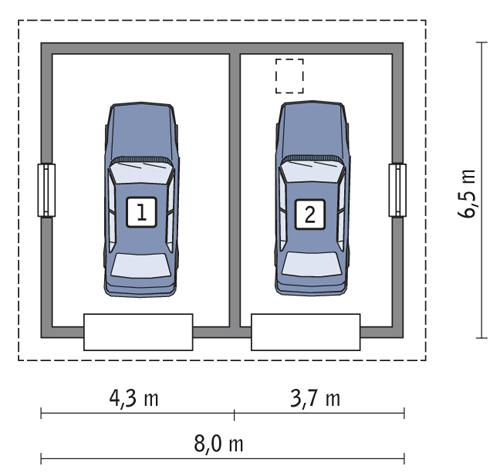 Rzut parteru POW. 44,2 m²