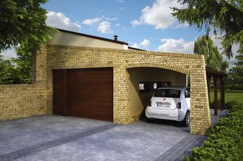 Garaż z wiatą