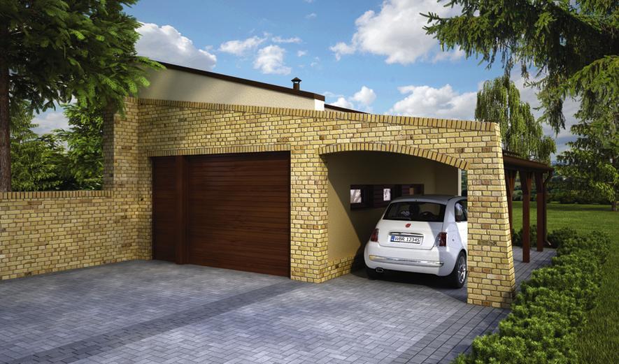 GC86 Garaż z wiatą