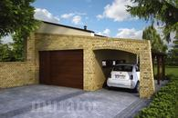 GC86 Garaż z wiatą garażową