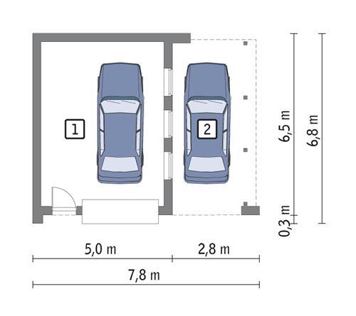 Rzut parteru POW. 26,0 m²