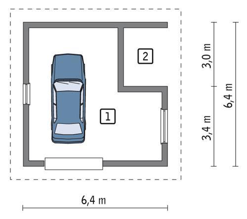 Rzut parteru POW. 28,9 m²