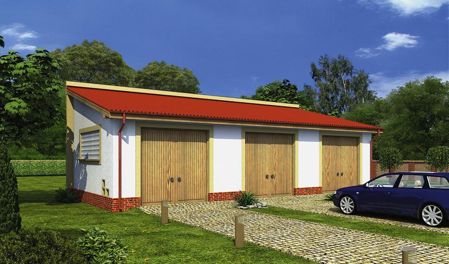 Garaże z możliwością dobudowy