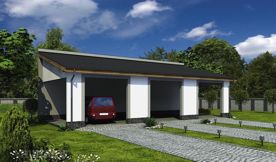 GC92a Wiata garażowa