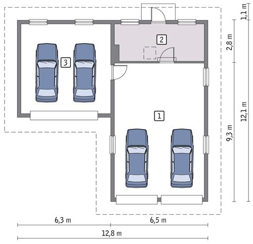 RZUT PARTERU POW. 103,6 m²