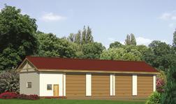 Budynek garażowo-magazynowy z pomieszczeniem gospodarczym